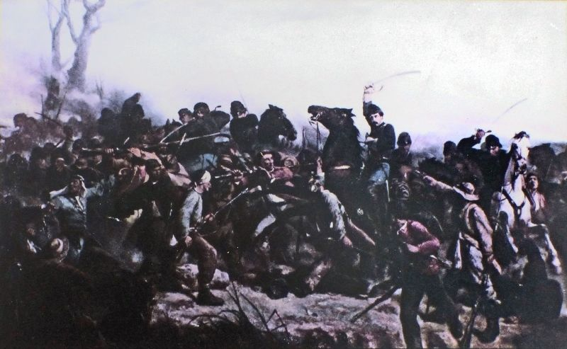 The Cavalry Charge of Lt. Henry B. Hidden<br>by Victor Nelig image. Click for full size.