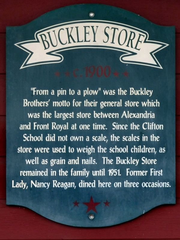 Buckley Store Marker image. Click for full size.