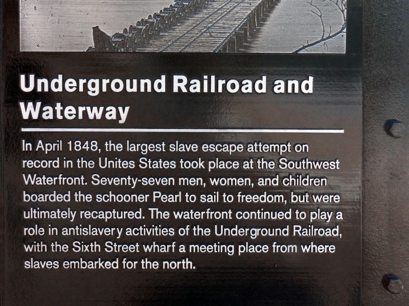 Underground Railroad and Waterway Marker image. Click for full size.