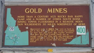 Gold Mines Marker image. Click for full size.
