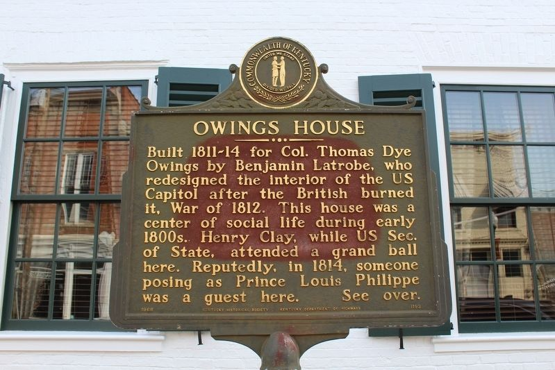 Owings House Marker image. Click for full size.