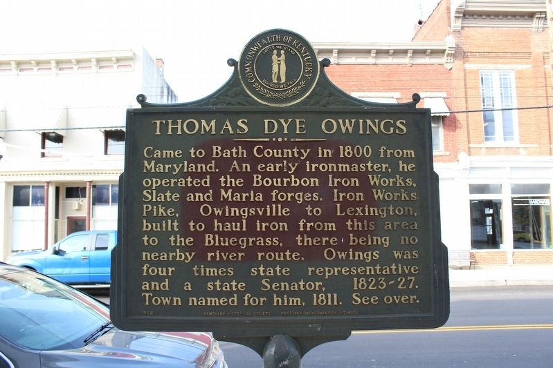 Thomas Dye Owings Marker image. Click for full size.