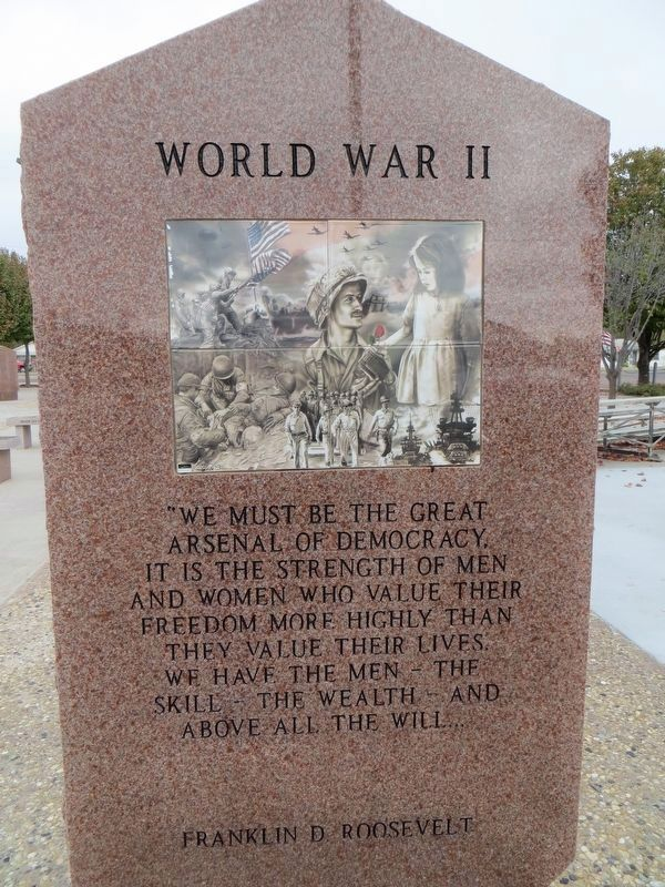 World War II - Andrews County Veterans Memorial image. Click for full size.