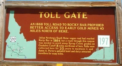 Toll Gate Marker image. Click for full size.