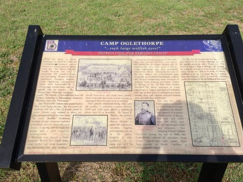 Camp Oglethorpe Marker image. Click for full size.