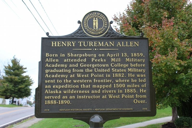 Henry Tureman Allen Marker (Side 1) image. Click for full size.