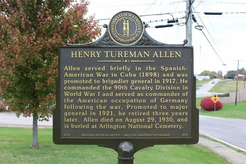 Henry Tureman Allen Marker (Side 2) image. Click for full size.