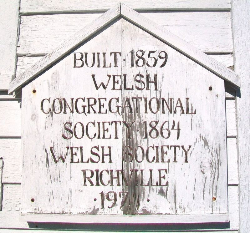 Richville Welsh Congregational Church Marker image. Click for full size.