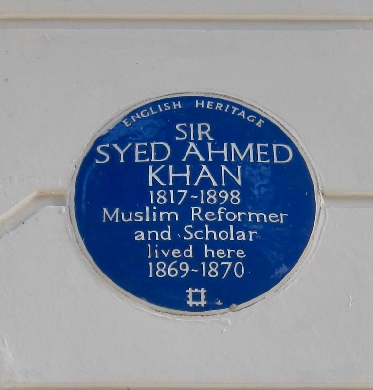 Sir Syed Ahmed Khan Marker image. Click for full size.