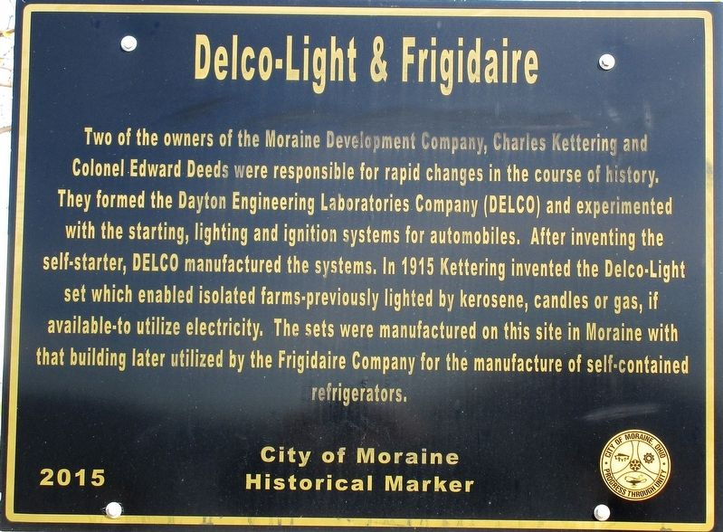 Delco-Light and Frigidaire Marker image. Click for full size.
