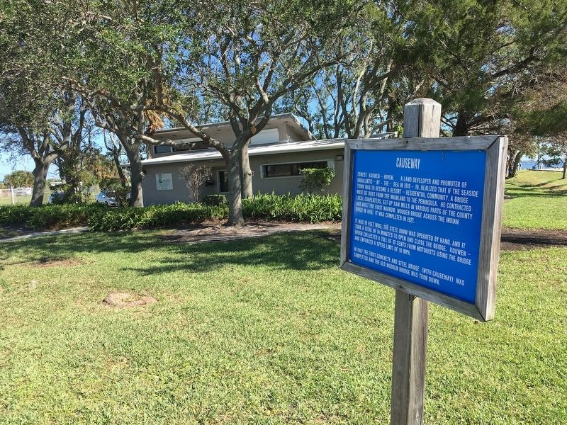 Marker in front of Brevard County Natural Resources Annex Building image. Click for full size.
