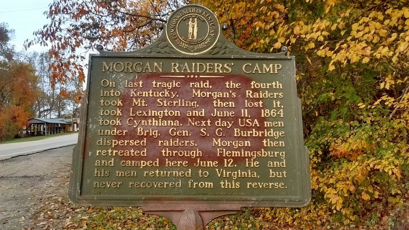 Morgan Raiders' Camp Marker image. Click for full size.