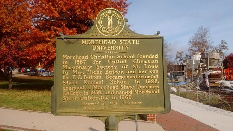 Morehead State University Marker image. Click for full size.