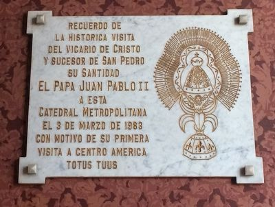 An additional marker inside the Cathedral of San José image. Click for full size.