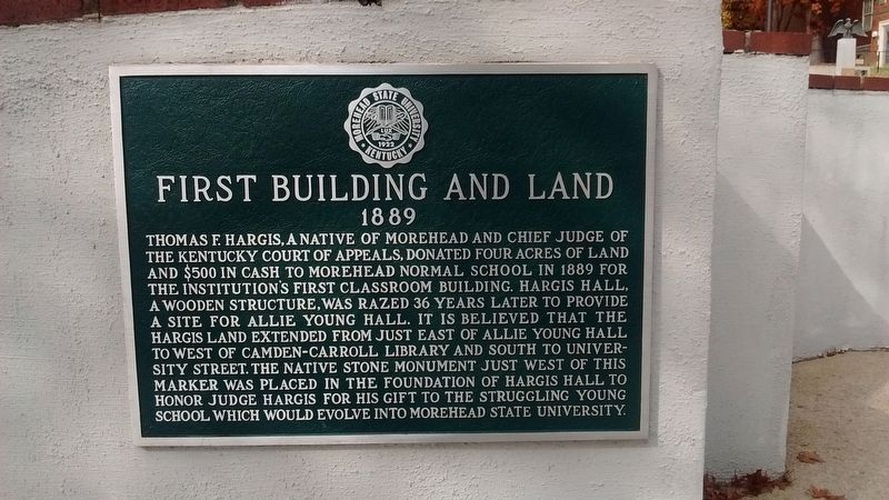 First Building And Land Marker image. Click for full size.