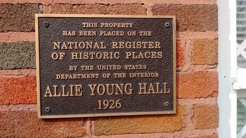 Allie Young Hall image. Click for full size.