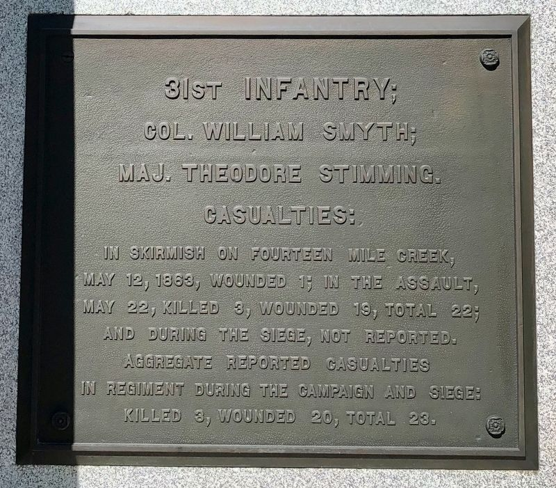 Iowa 2nd Brig.;31st Infantry Marker (bottom) image. Click for full size.