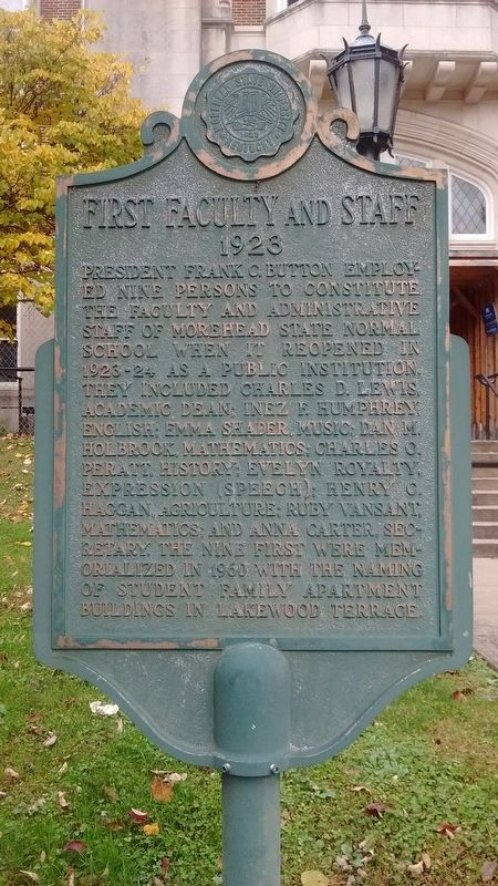 First Faculty And Staff Marker image. Click for full size.