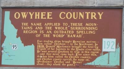 Owyhee Country Marker image. Click for full size.