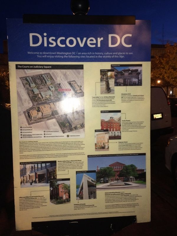 Discover DC / Judiciary Square Marker image. Click for full size.