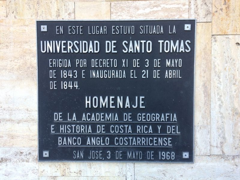 The University of Santo Tomás Marker image. Click for full size.