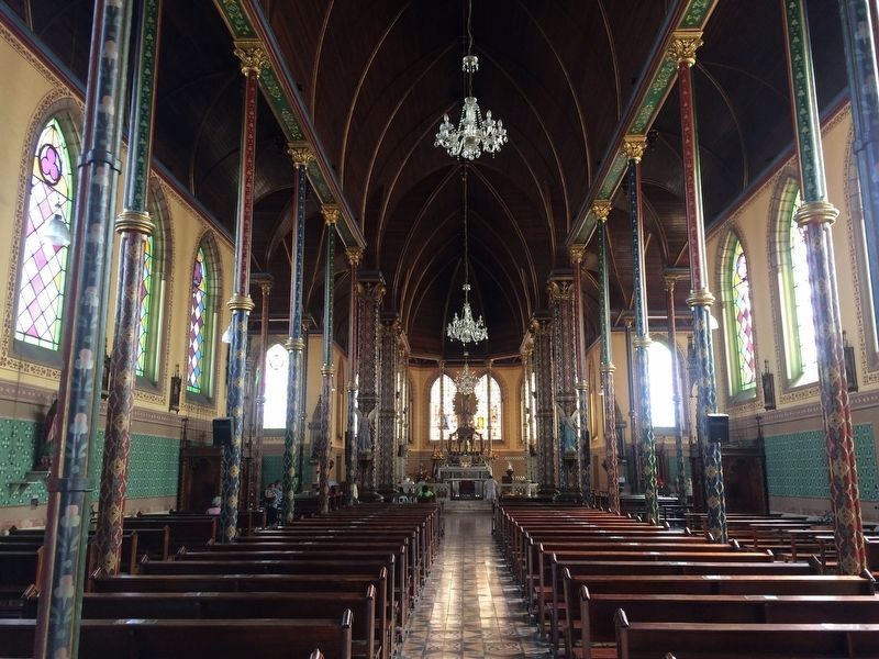 The interior of the nearby Our Lady of Mercy (Nuestra Señora de Merced) Catholic Church image. Click for full size.