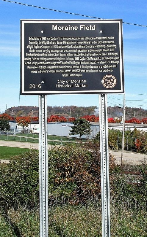Moraine Field Marker image. Click for full size.