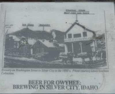Historic Photograph of the Owyhee Brewery image. Click for full size.
