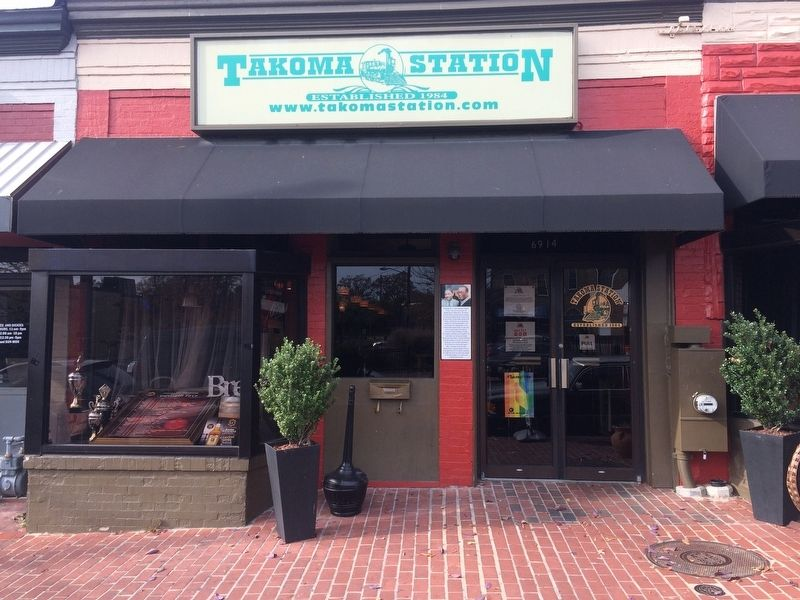 Takoma Station Tavern Marker image. Click for full size.