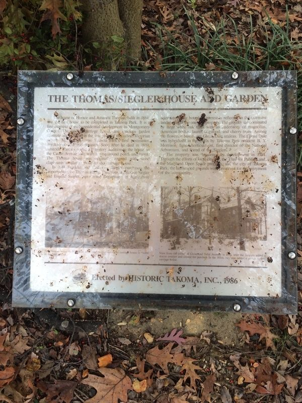 The Thomas/Siegler House and Garden Marker image. Click for full size.