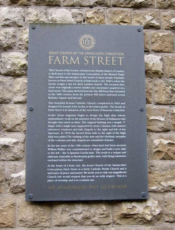 Farm Street Church Marker image. Click for full size.