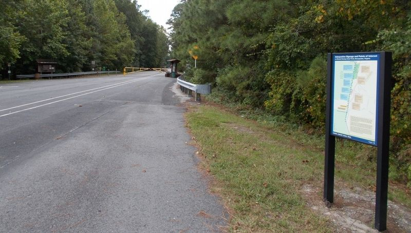 Dismal Swamp Canal Trail Marker, looking south. image. Click for full size.