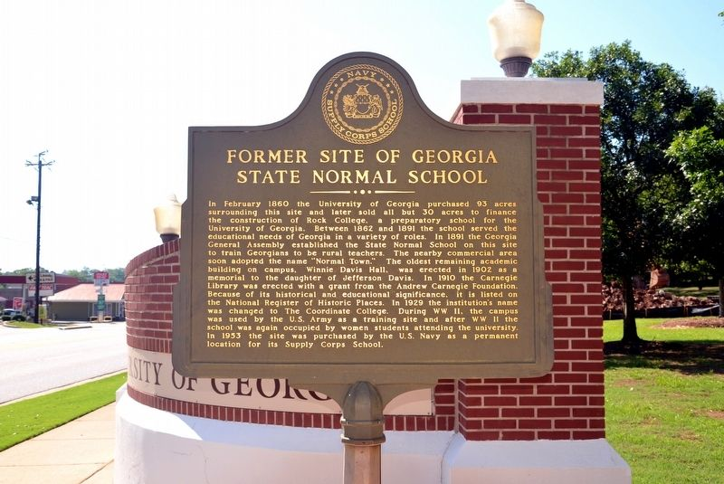 Former Site of Georgia State Normal School Marker image. Click for full size.