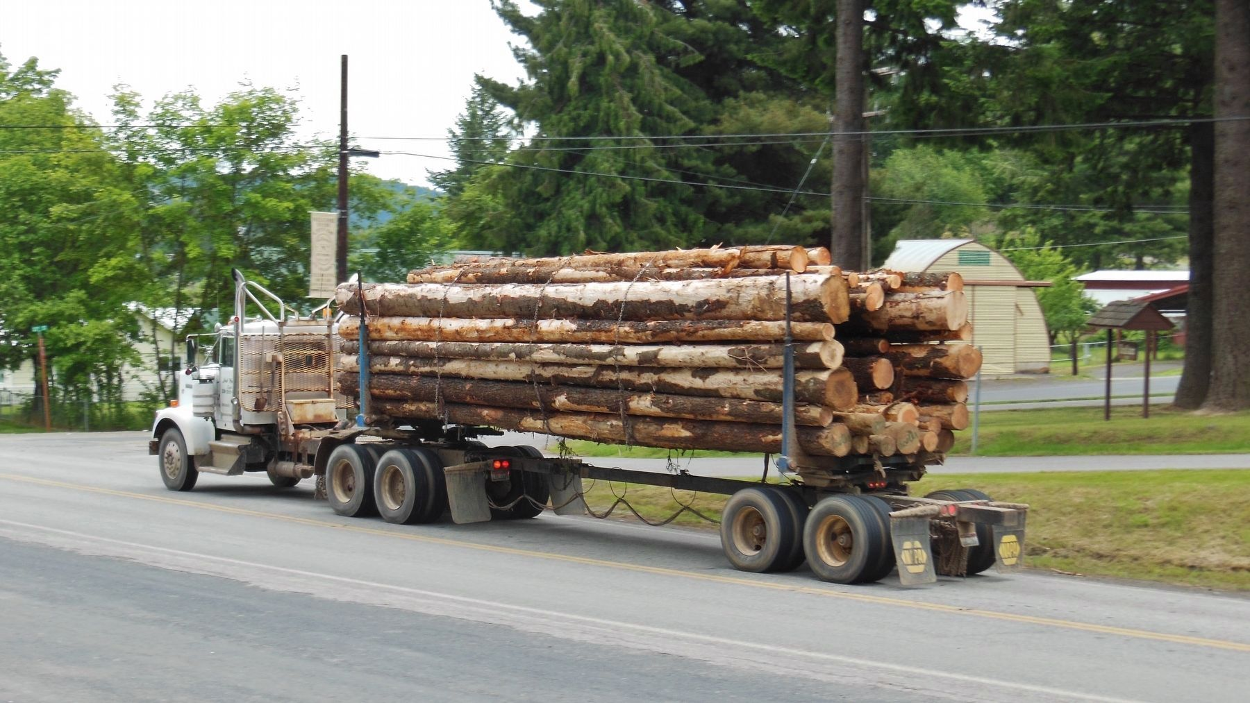 Logging Truck Passing by Marker image. Click for full size.