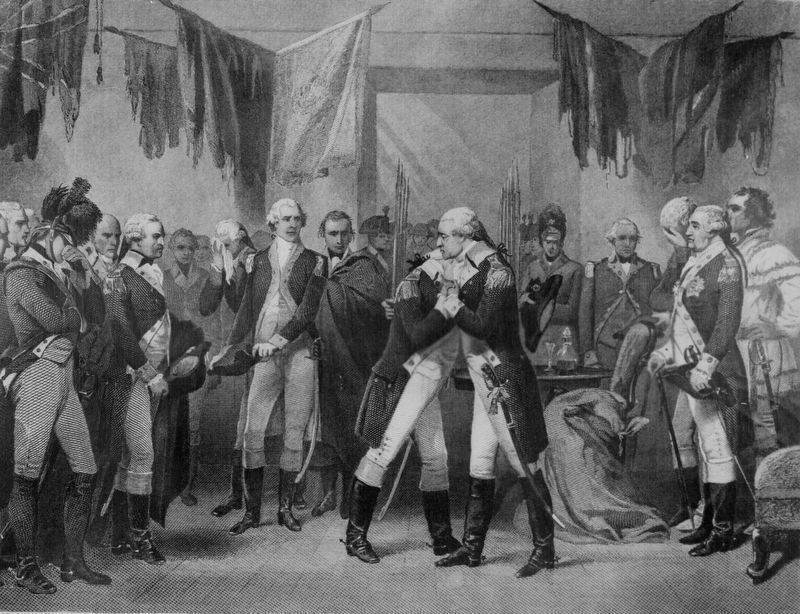 """Washington's Farewell to His Officers."" image. Click for full size."