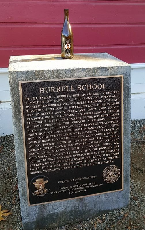Burrell School Marker image. Click for full size.