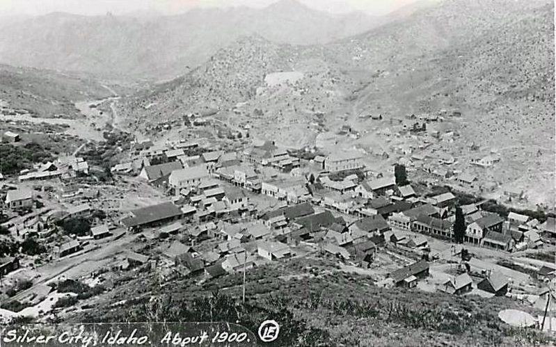 <i>Silver City, Idaho. About 1900.</i> image. Click for full size.