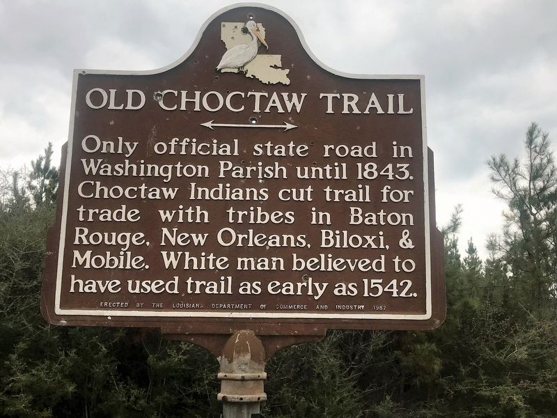 Old Choctaw Trail Marker image. Click for full size.