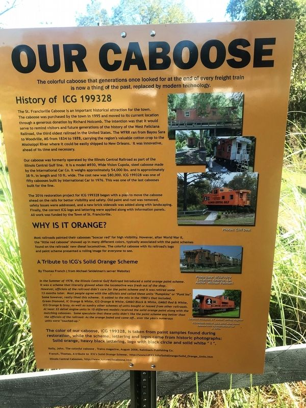 Our Caboose Marker image. Click for full size.