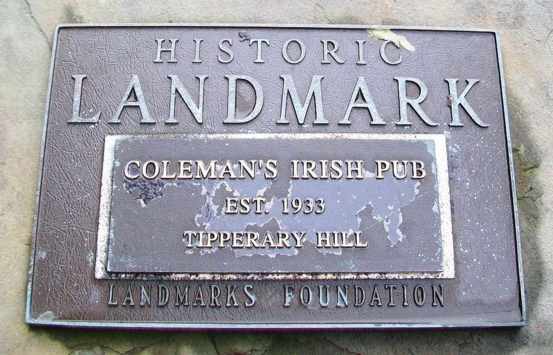 Coleman's Irish Pub Landmark Marker image. Click for full size.
