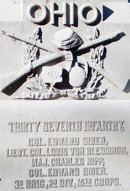 Ohio Thirty Seventh Infantry Monument image. Click for full size.