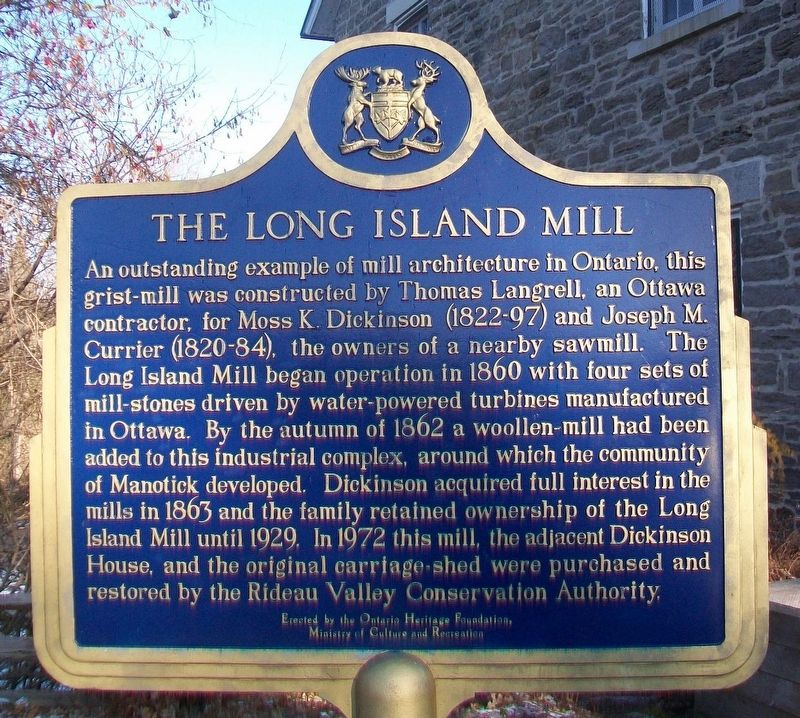 The Long Island Mill Marker image. Click for full size.