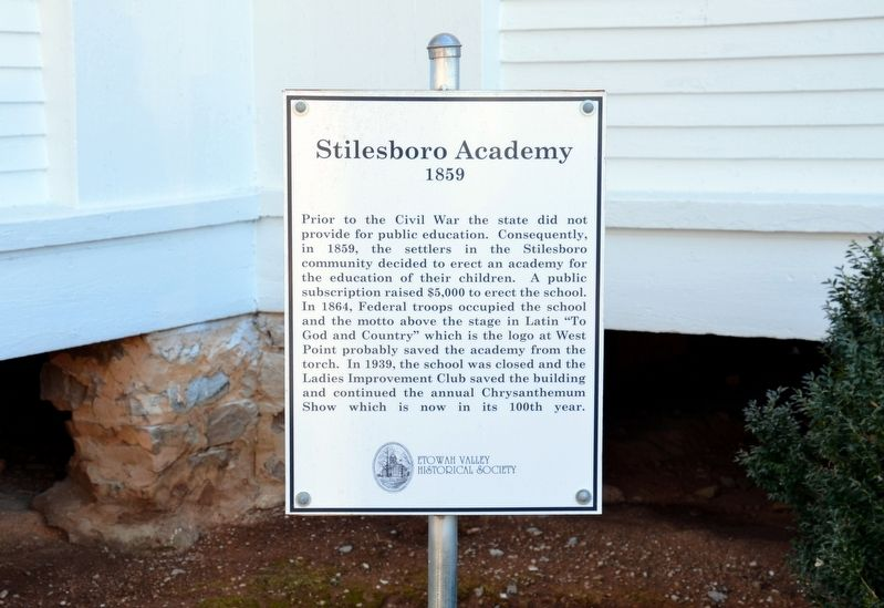 Stilesboro Academy Marker image. Click for full size.