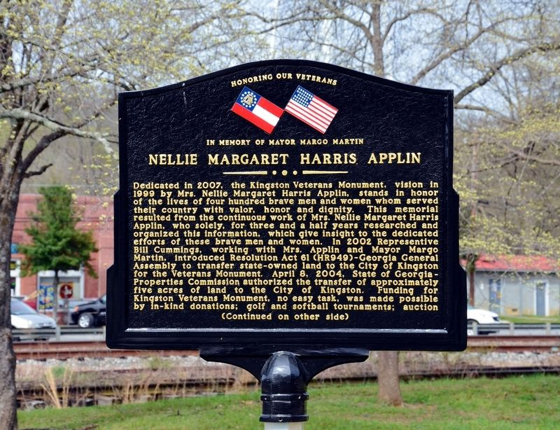 Nellie Margaret Harris Applin Marker (Side 1) image. Click for full size.