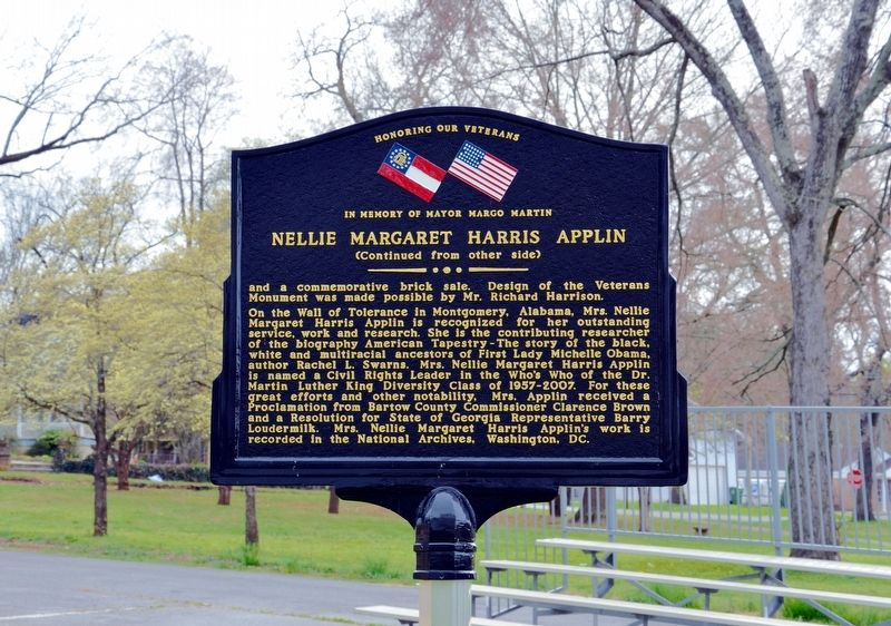 Nellie Margaret Harris Applin Marker (Side 2) image. Click for full size.