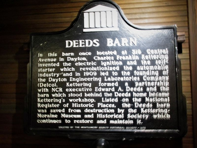 Deeds Barn Marker image. Click for full size.