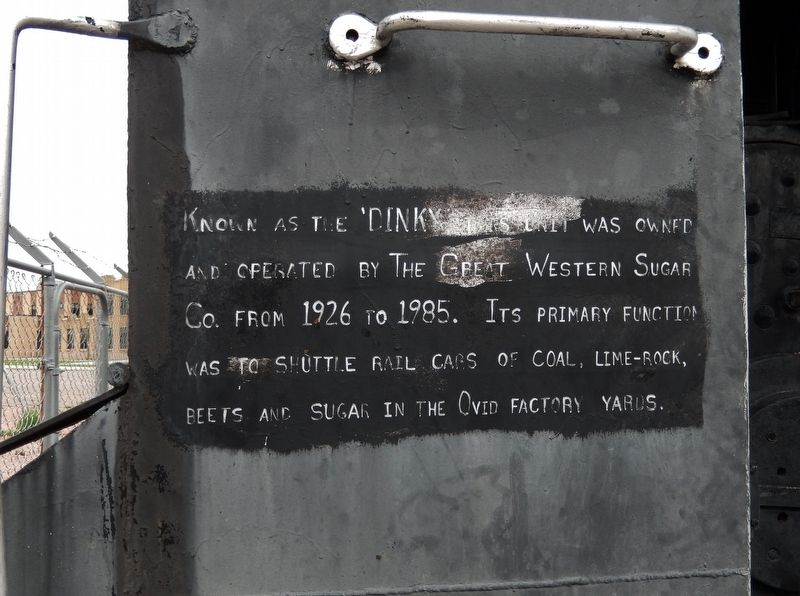 """Dinky"" Locomotive Marker image. Click for full size."
