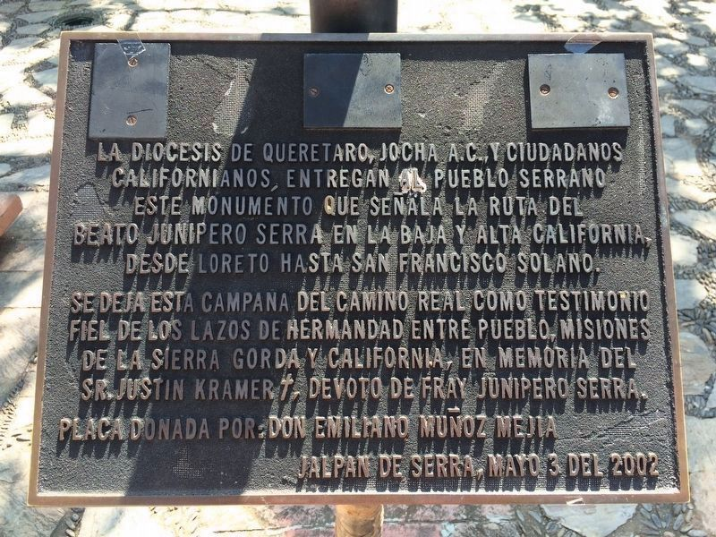 An additional, nearby Friar Junipero Serra Marker image. Click for full size.