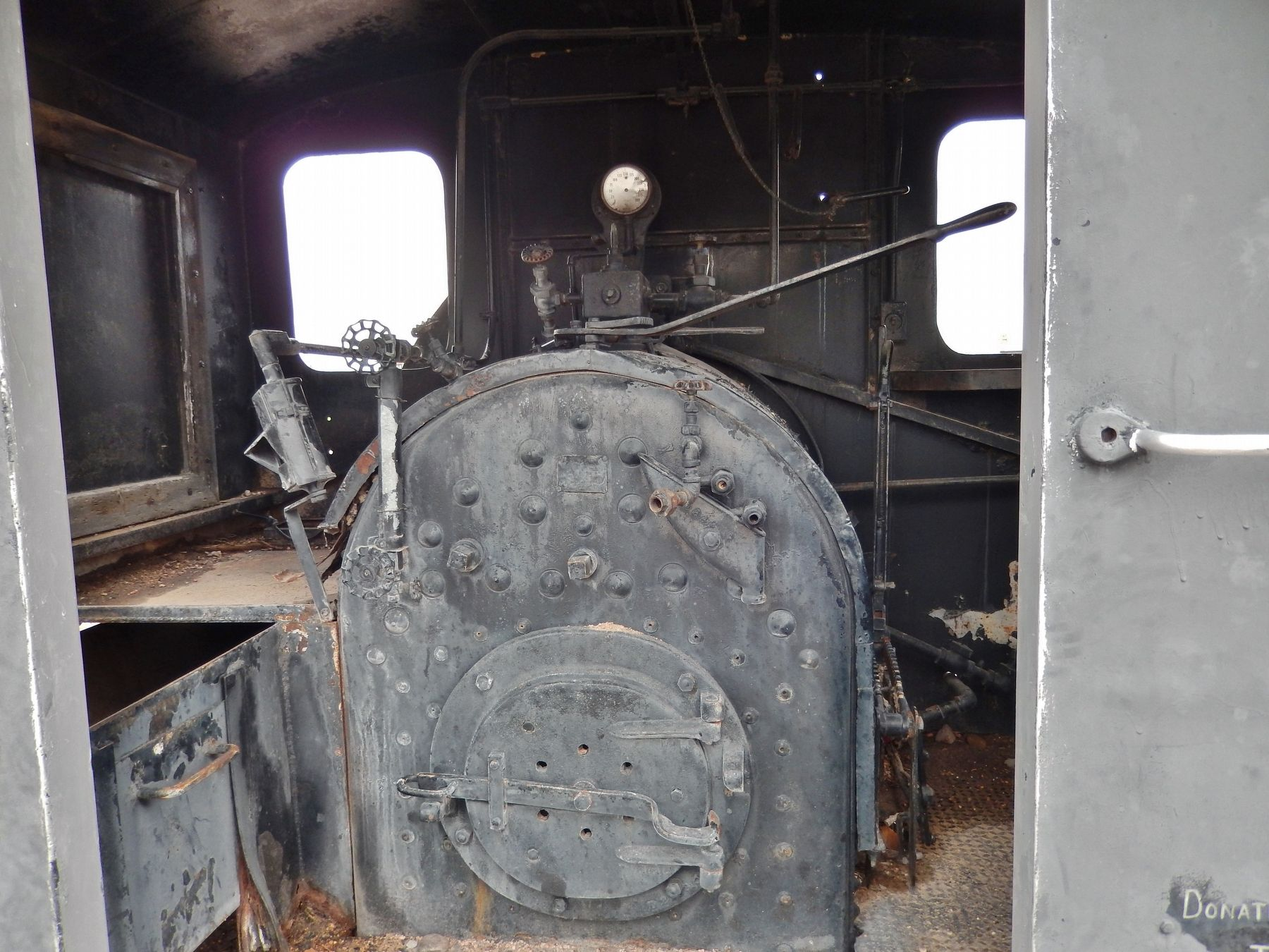 """Dinky"" Locomotive Marker (<i>firebox view</i>) image. Click for full size."