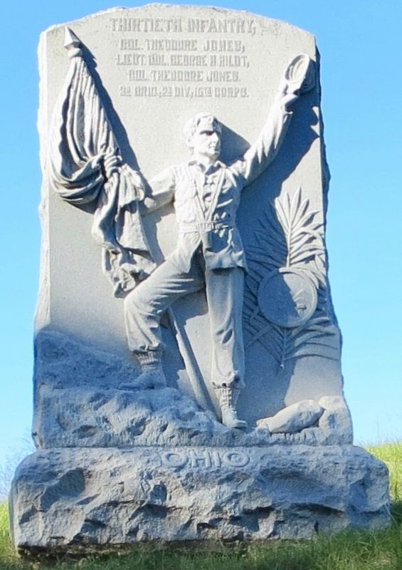 Ohio Thirtieth Infantry Monument image. Click for full size.